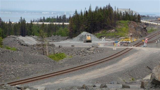 Chemin de fer à Pointe-Noire, à Sept-Îles