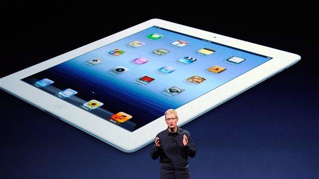 Le PDG d'Apple, Tim Cook, présente le nouveau iPad