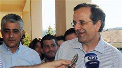 Antonis Samaras, chef du parti Nouvelle démocratie.