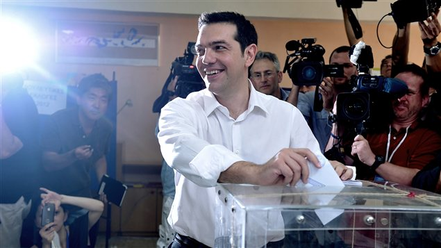 Alexis Tsipras, chef de la Coalition de la gauche radicale