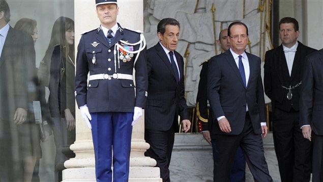 Nicolas Sarkozy quitte le palais présidentiel après l'arrivée de son successeur François Hollande le 15 mai dernier.