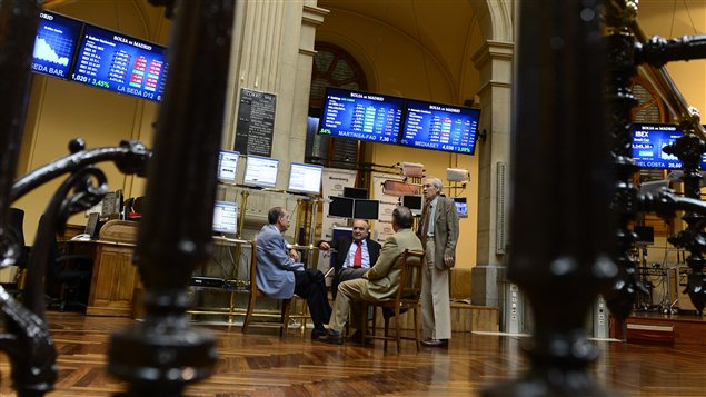 Courtiers à la Bourse de Madrid