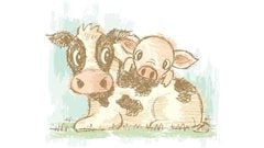 Vache et cochonnet