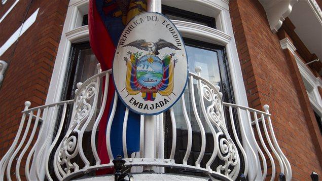 L'ambassade d'Équateur à Londres où s'est réfugié Julian Assange