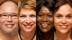 © Radio-Canada / François Lemay | Jean Chen, Marianna Simeone, Lydie Olga (N)tap et Paloma Martinez