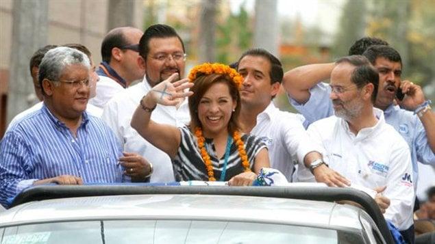 Josefina Vasquez Mota, du PAN, en campagne électorale à Tantoyuca, le 16 juin 2012