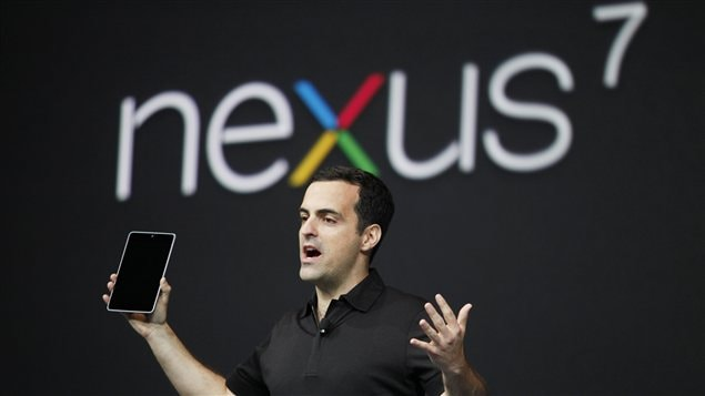 Le chef de la branche Android de Google, Hugo Barra, prsente la Nexus 7.