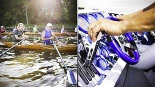 Un plan d'eau, deux passions: l'aviron et le bateau de course