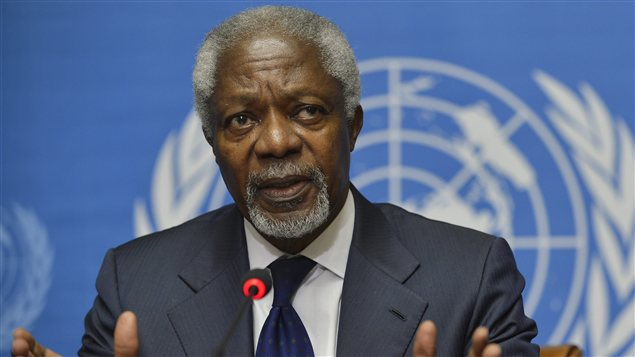 Kofi Annan, l&#39;missaire spcial des Nations Unies et de la Ligue arabe pour la Syrie