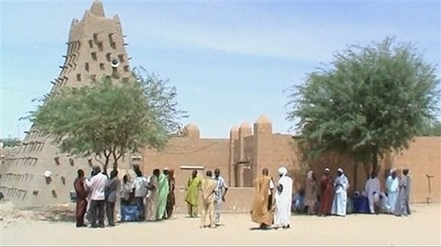 Une mosque  Tombouctou, dans le nord du Mali