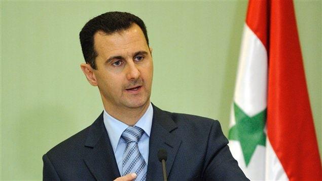 Le président syrien, Bachar Al-Assad, lors d'une conférence de presse en janvier 2009.