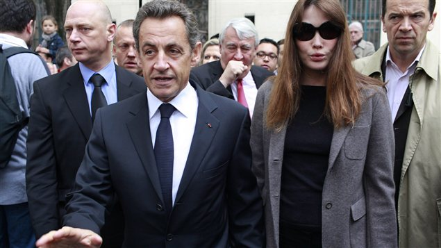 L&#39;ex-prsident Nicolas Sarkozy et sa femme Carla Bruni-Sarkozy (archives)