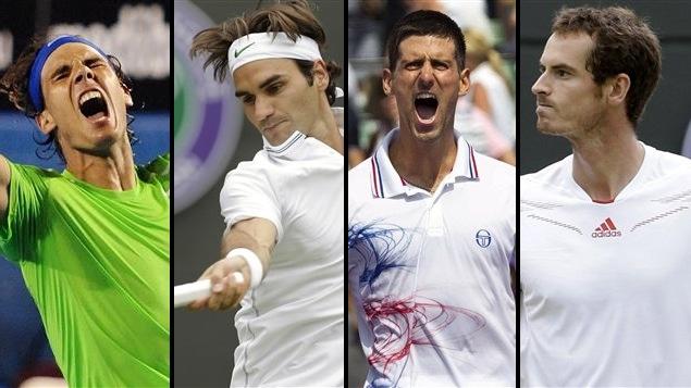 Rafael Nadal, Roger Federer, Novak Djokovic et Andy Murray