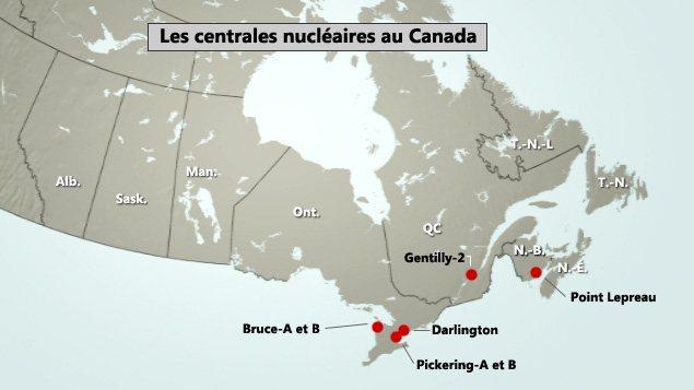 Les centrales nucléaires au Canada