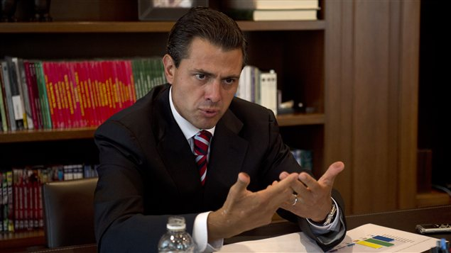 Enrique Peña Nieto, du Parti révolutionnaire institutionnel (PRI), au lendemain de l'élection mexicaine du 1er juillet 2012.