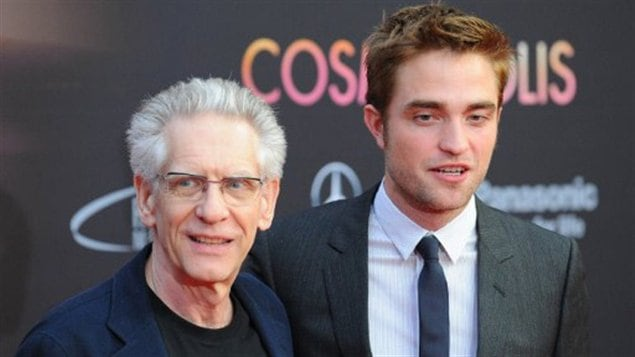 David Cronenberg et Robert Pattinson � la premi�re du film Cosmopolis|� Jens Kalaene