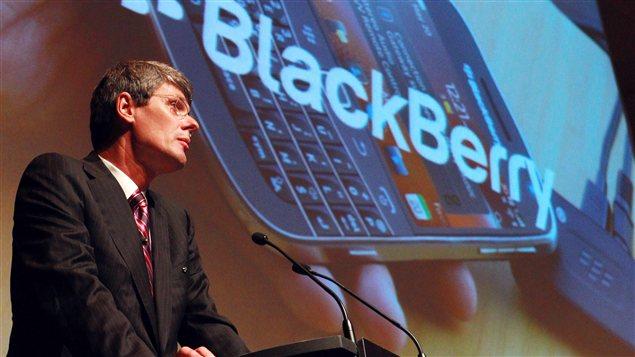Le PDG de RIM, Thorsten Heins, à l'assemblée générale des actionnaires à Waterloo, le 10 juillet 2012.