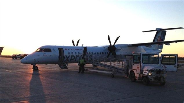 Piste d'atterrissage à l'aéroport de Sept-Îles