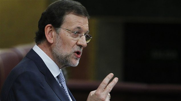 Mariano Rajoy devant le Parlement espagnol, � Madrid, le 11 juillet