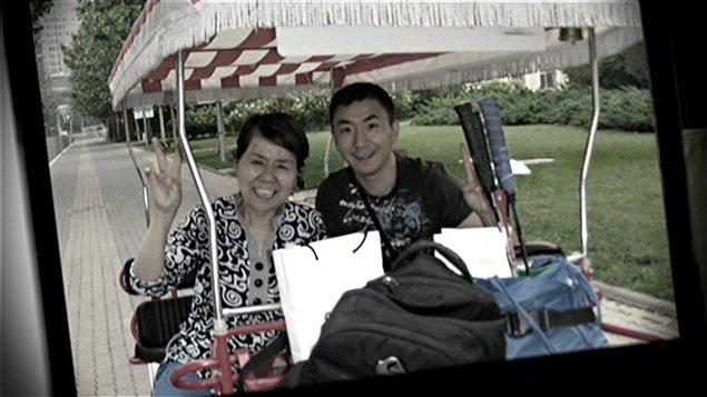 Photo de Lin Jun avec sa mère
