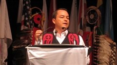 Le chef national de l'Assembl�e des Premi�res Nations, Shawn Atleo.