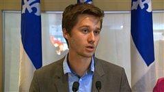 Léo Bureau-Blouin en conférence de presse