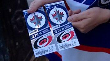 Des billets pour un match des Jets de Winnipeg