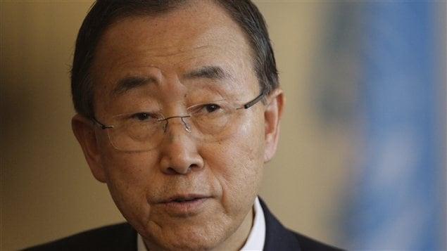 Le secrétaire général de l'ONU, Ban Ki-moon