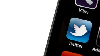 L'application Twitter sur un iPhone 4