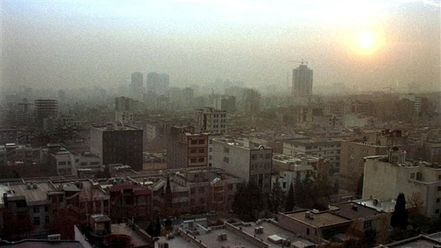 Une vue de la capitale iranienne