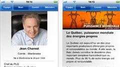 Seul le Parti libéral du Québec possède une application pour Iphone.