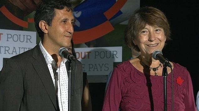 Les porte-parole de Québec solidaire, Amir Khadir et Françoise David.