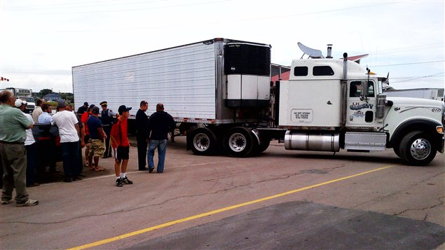 Le camion qui transportait du homard du Maine est reparti sans avoir déchargé sa cargaison, jeudi après-midi.