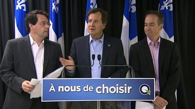 Bernard Drainville, Bertrand St-Arnaud et Nicolas Girard