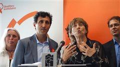 Amir Khadir et Françoise David dévoilent leur Plan vert qui prévoit des milliards pour le transport vert.