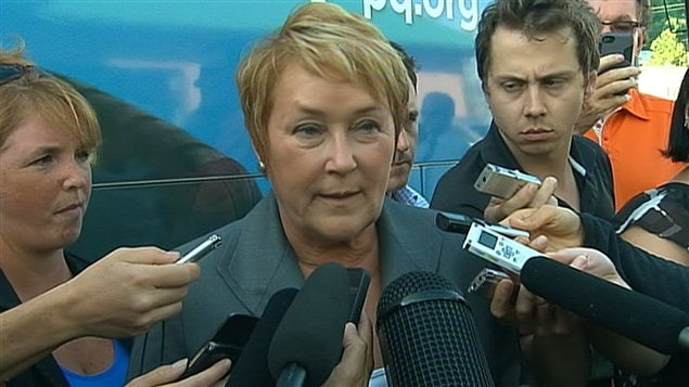 Pauline Marois a bri&#232;vement r&#233;agi au reportage diffus&#233; par Radio-Canada.