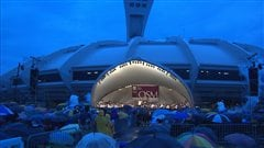 L'Orchestre symphonique de Montréal sur l'esplanade du Parc olympique, le 9 août 2012