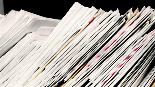 Piles de papier