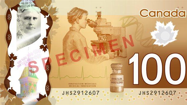 Verso du nouveau billet de 100 $