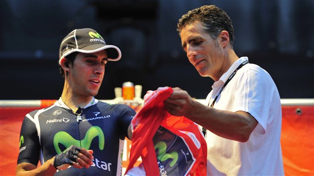 Jonathan Castroviejo et Miguel Indurain