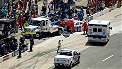 Mark Martin accidenté au Michigan