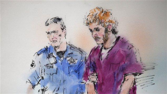 James Holmes, responsable du carnage d'Aurora le 20 juillet dernier aux États-Unis / Illustration Bill Robles PC