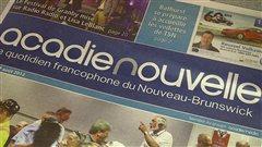 Le journal l'Acadie Nouvelle est publié du lundi au samedi.