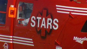 Un hélicoptère-ambulance STARS