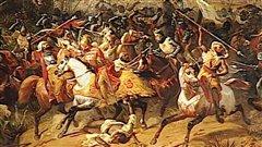 La bataille d'Arsouf, par Eloi Firmin Feron (tableau du xixe siècle)