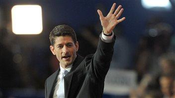 Paul Ryan, le colistier de Mitt Romney, lors de son discours à la convention républicaine à Tampa, en Floride, le 29 août 2012.