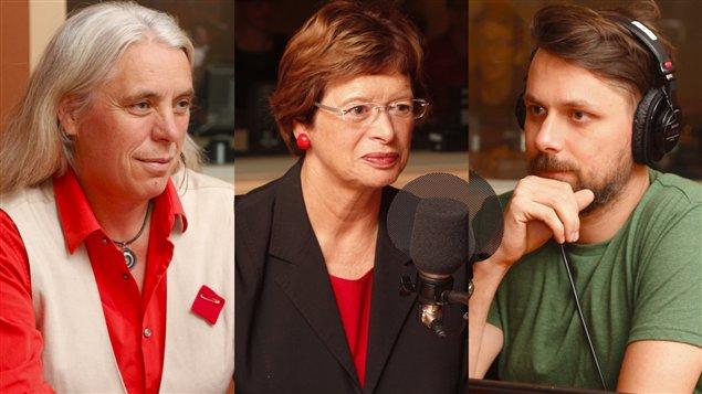Manon Massé, Marie Malavoy et Étienne Côté-Paluck  ©Radio-Canada/ Marie-Sandrine Auger