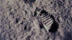 Pas d'un des astronautes d'Apollo 11 sur la Lune