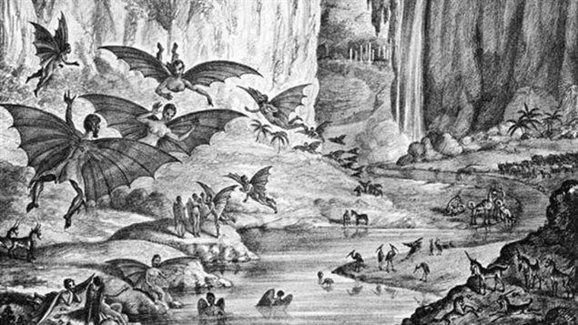 Peuple étrange vivant sur la Lune selon le canular de 1835