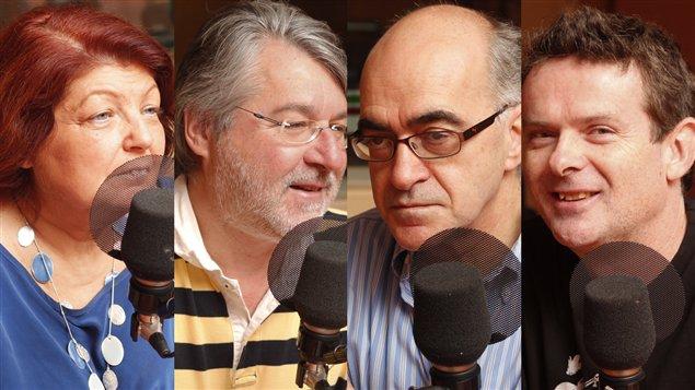 Aïda Kamar, Jacques Beauchemin, Alain G. Gagnon et Brendan Kelly ©Radio-Canada/ Marie-Sandrine Auger